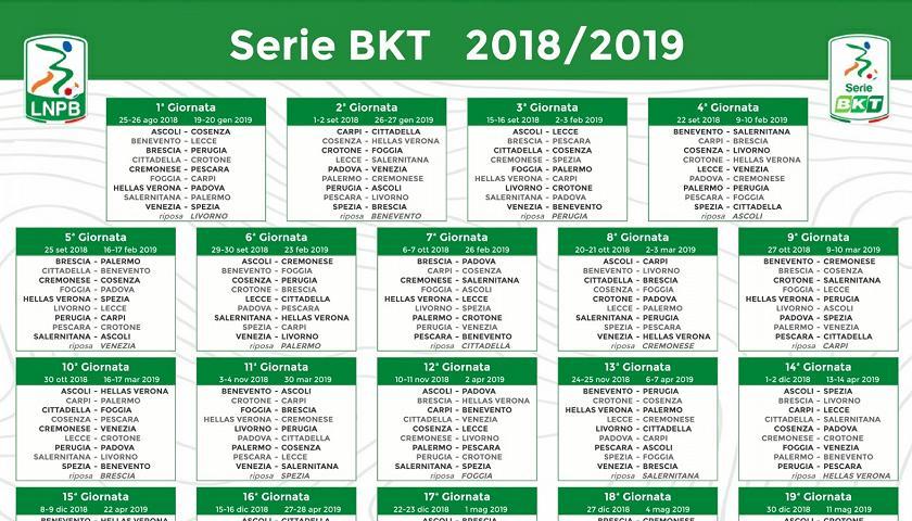 Calendario Di Serie B 2018 19 Giornate Orari Infrasettimanali E Soste Sport Tgr Sicilia