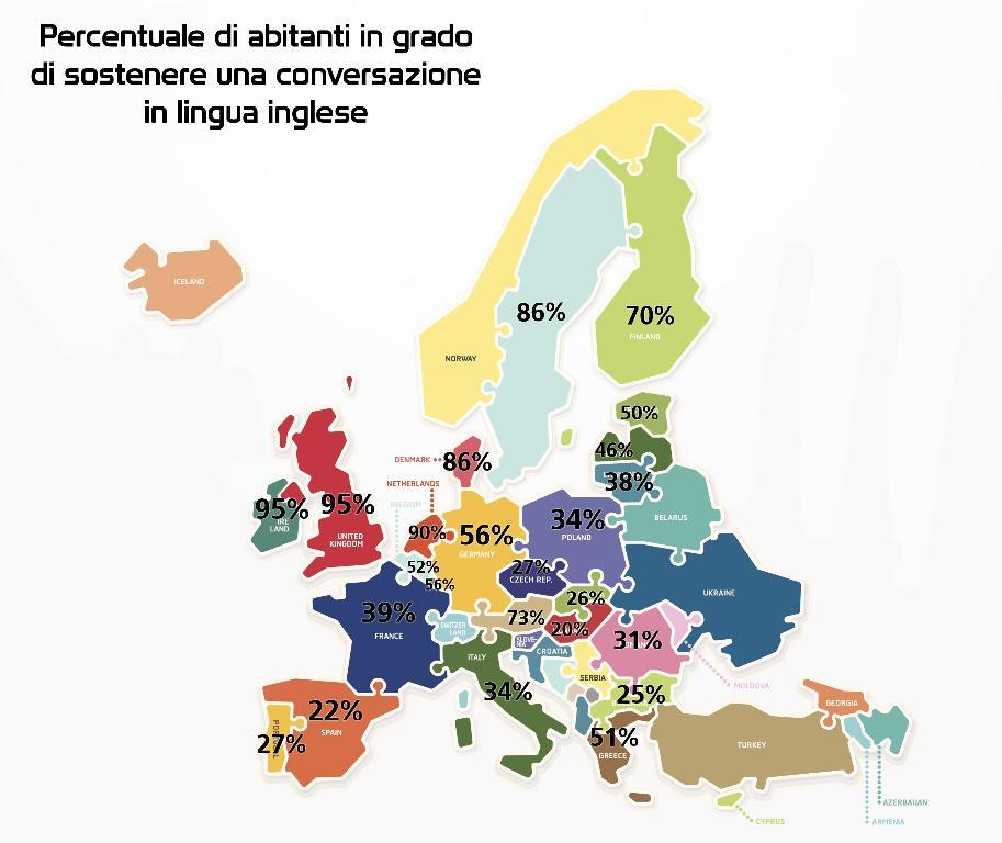 Cartina Italia In Inglese.Parlare Inglese Ecco La Mappa Di Chi Se La Cava Meglio Rai News