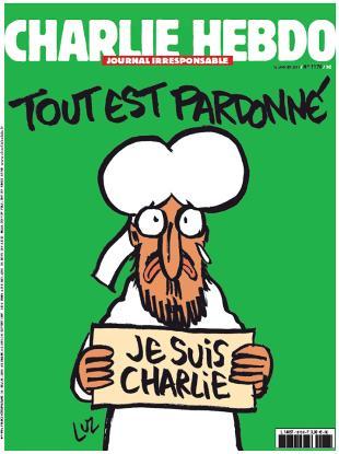 Charlie Hebdo con Maometto in prima pagina subito esaurito, passerà da 3 a 5 milioni di copie