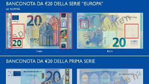 Ecco la nuova banconota da 20 euro. In circolazione dal 25 novembre