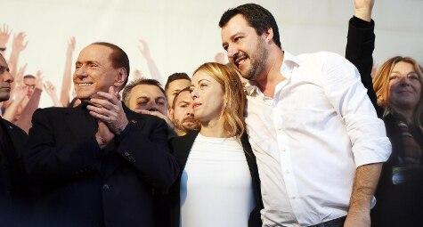 bologna Berlusconi Meloni Salvini (ansa)
