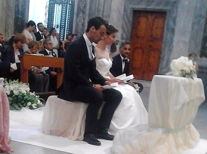 Brindisi Flavia Pennetta Fabio Fognini Cattedrale Ostuni ANSA matrimonio ROBERTA GRASSI