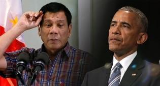 """Il Presidente delle Filippine Duterte: """"Obama è un figlio di p..."""". Leader Usa: """"Ragazzo pittoresco"""""""