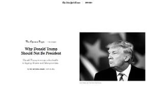 Ecco perchè Trump non dovrebbe essere Presidente. Nel giorno del faccia a faccia il NYT si schiera