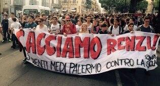 Contro le politiche del governo, studenti in piazza in tutta Italia