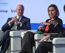 Med 2016. Federica Mogherini: su Siria Ue unica a fare qualcosa. Staffan de Mistura: andrò da Trump