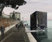 Padiglione russo per la Biennale di Venezia: Opera d'arte con mausoleo e salma di Lenin