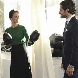 La Principessa Sofia di Svezia con il principe Carlo Filippo (LaPresse)