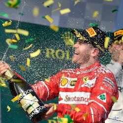 Sebastian Vettel, Ferrari in australia (AP Photo/Andy Brownbill)