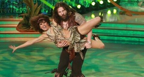 Martin Castrogiovanni con Sara Di Vaira a Ballando con le Stelle (LaPresse)