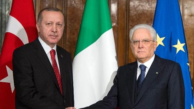 """Erdogan al Quirinale: colloquio """"rispettoso e franco"""" con il presidente  Mattarella - Photogallery - Rai News"""