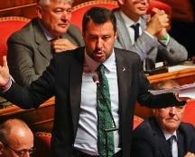 """Crisi di governo, Salvini parla in Senato: """"Il voto è la via maestra"""""""