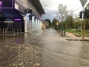 Milan, part of the Seveso flood  The weather improves