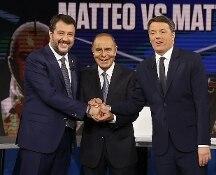 Matteo vs Matteo: il video integrale del duello tra Renzi e Salvini a Porta a porta su Rai1