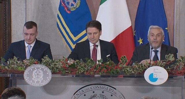 Conferenza stampa di fine anno del presidente del Consiglio, Giuseppe Conte - Rai News