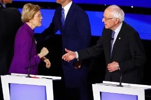Duro scambio di battute tra Warren e Sanders dopo dibattito tv: