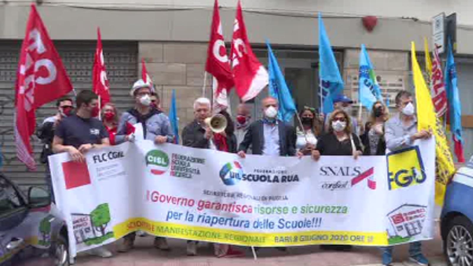 Anche in Puglia sciopero della scuola, i sindacati: