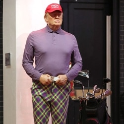 Usa 2020, Madame Tussauds, Trump golfista (Photo by Jonathan Brady/PA Images via Getty Images)