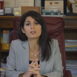 Virginia Raggi, ospite studio24 011220 (screenshot)