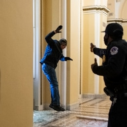 Usa, assalto Capitol Hill, Police Officer Eugene Goodman (GettyImages)