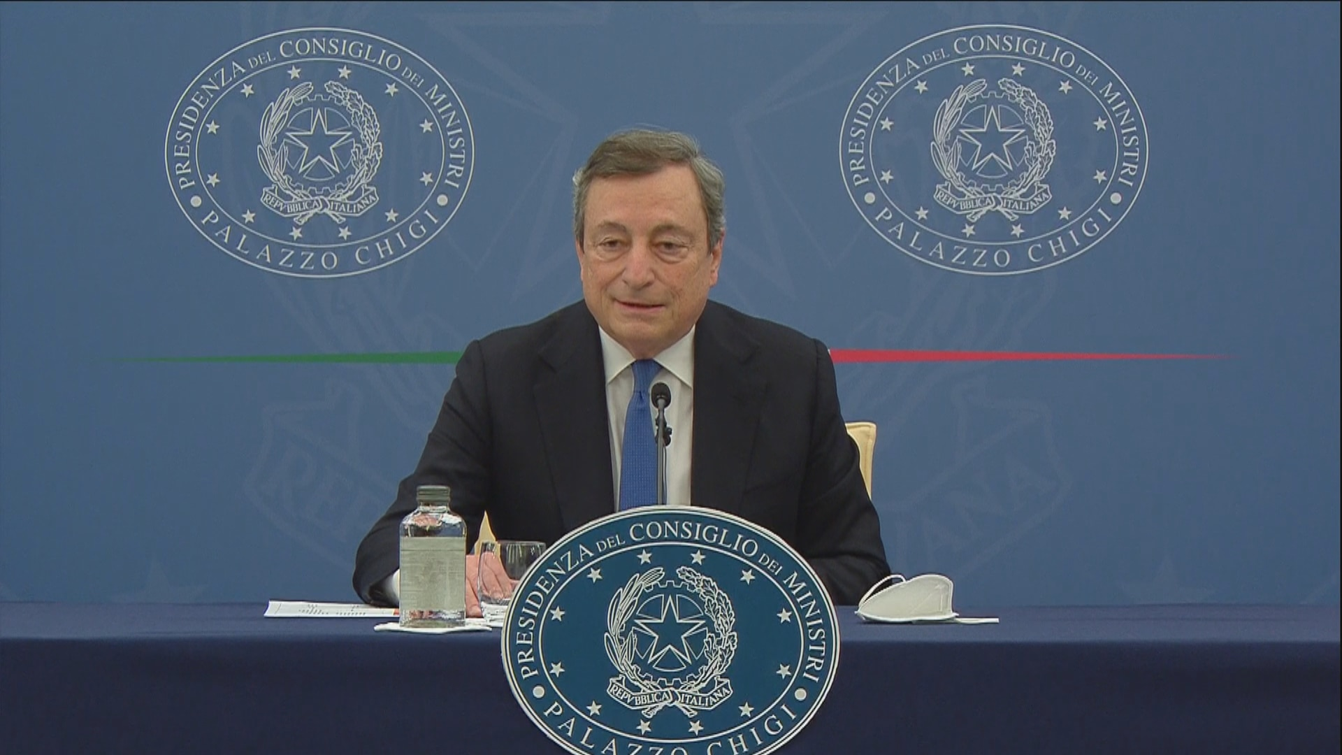 Dl Sostegni bis, la conferenza stampa del premier Mario Draghi - Video -  Rai News