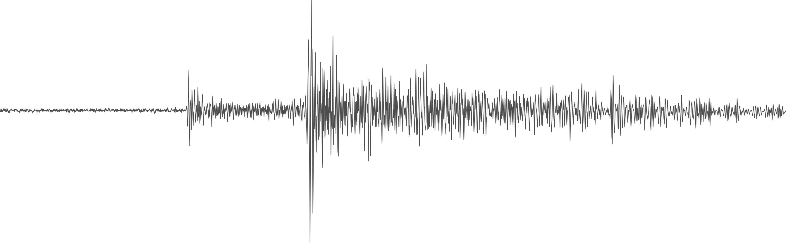 Il lander InSight ha registrato un terremoto, qui rappresentato come un sismogramma, il 25 luglio 2019. I sismologi studiano le ondulazioni nei sismogrammi per confermare se stanno davvero vedendo un terremoto o un rumore causato dal vento. (Nasa)