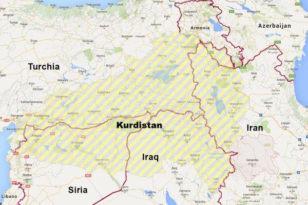 kurdistan mappa